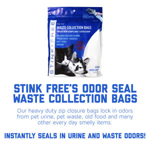 Cat Litter Odor Seal Bag - Smell Proof Kitty Litter Bags. Packs of 21 Odor Seal Waste Remover Litter Bags for Poop & Urine. Cleaning Supplies for Your Litter Box and Pet