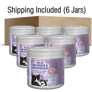 Solid Gel Deodorizer Lavender Fragrance - Case of 6 Jars