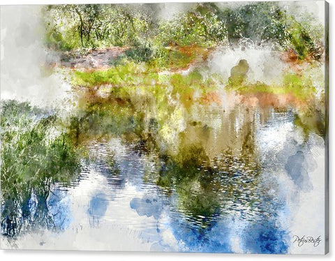 Abstract Watercolor Dam  - Canvas Print