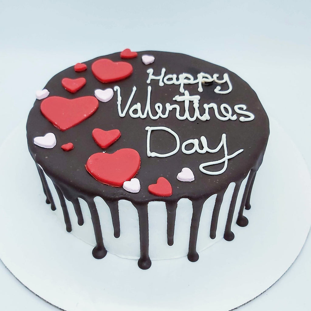 Happy Valentine's Day Drip Cake