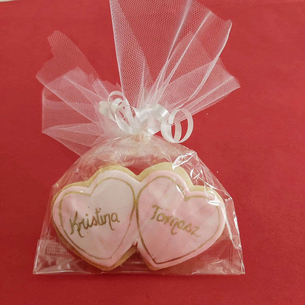 Double Hearts Personalized Cookie