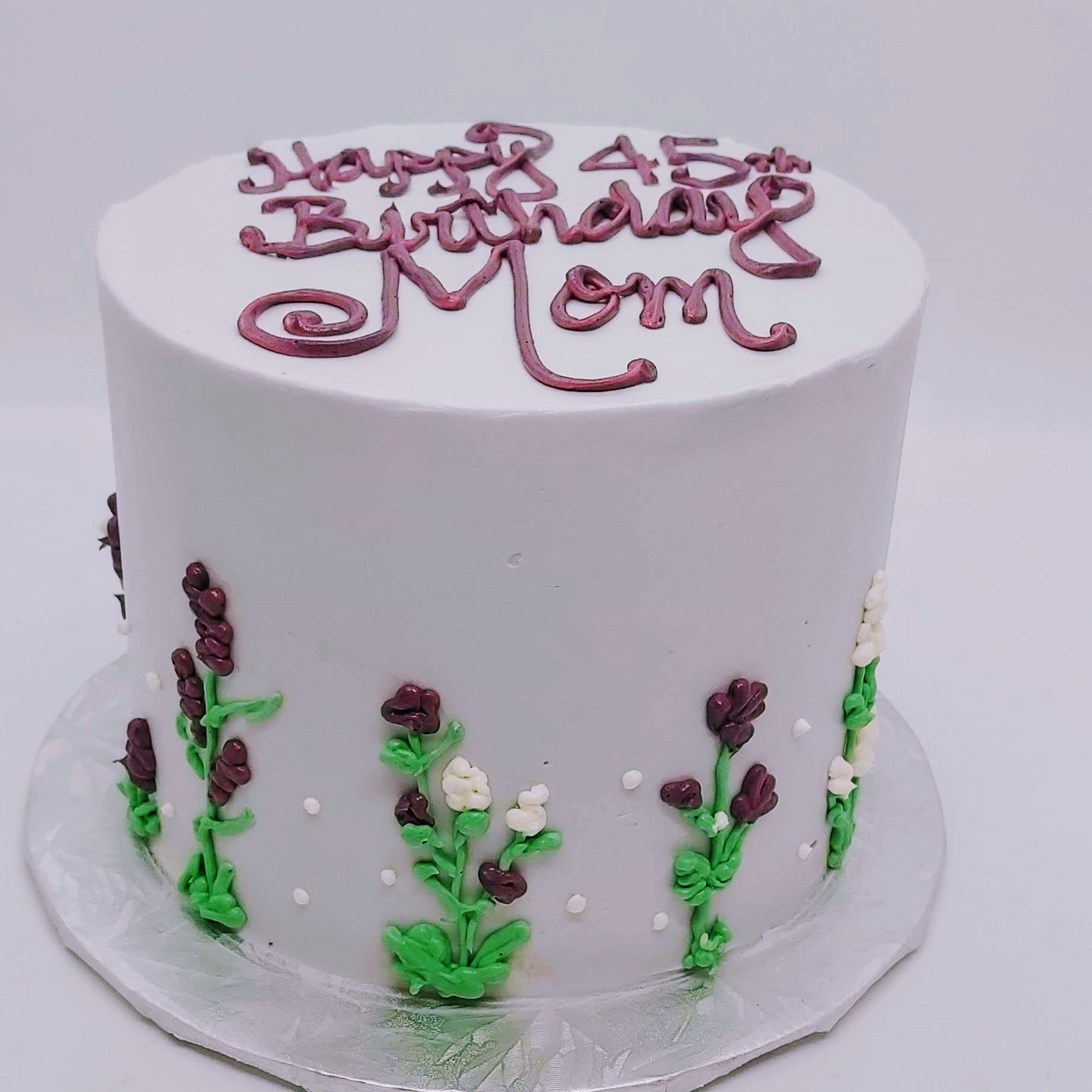Simple Wildflower cake