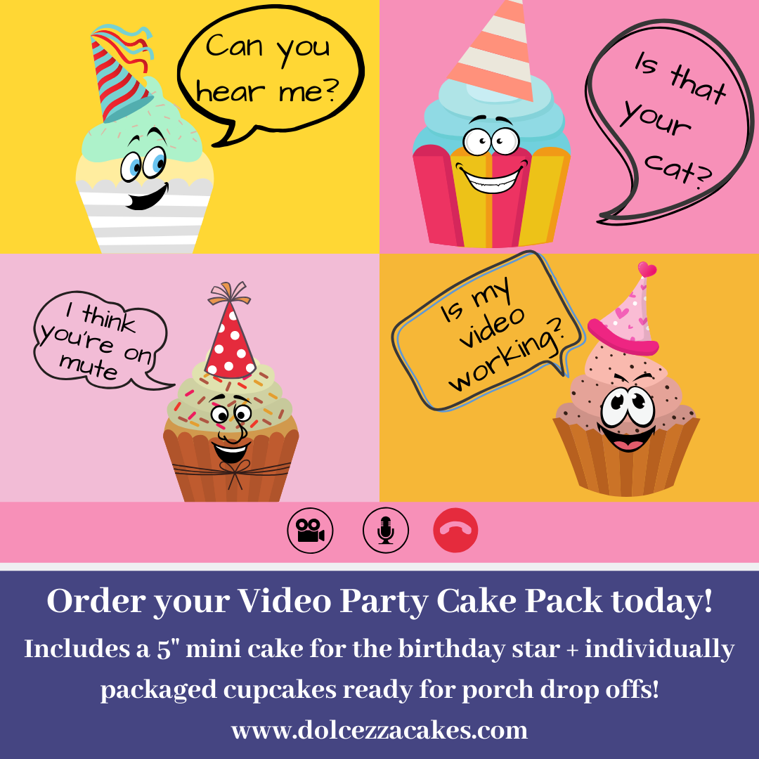 Online Party Cake+Cupcake Combo