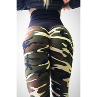 Legging push up camouflage taille haute