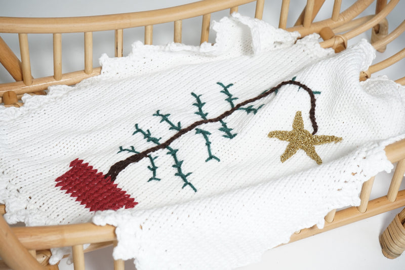 Christmas Hand Crochet Dolls Blanket