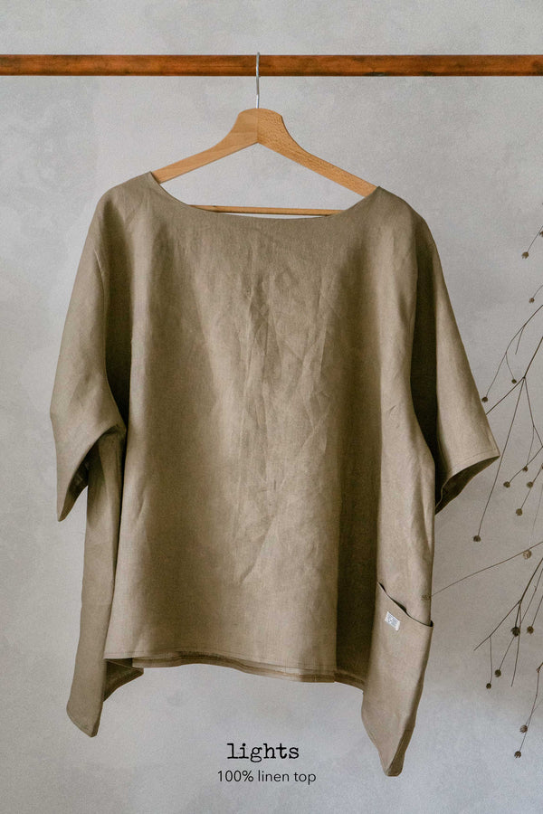 Lights linen top