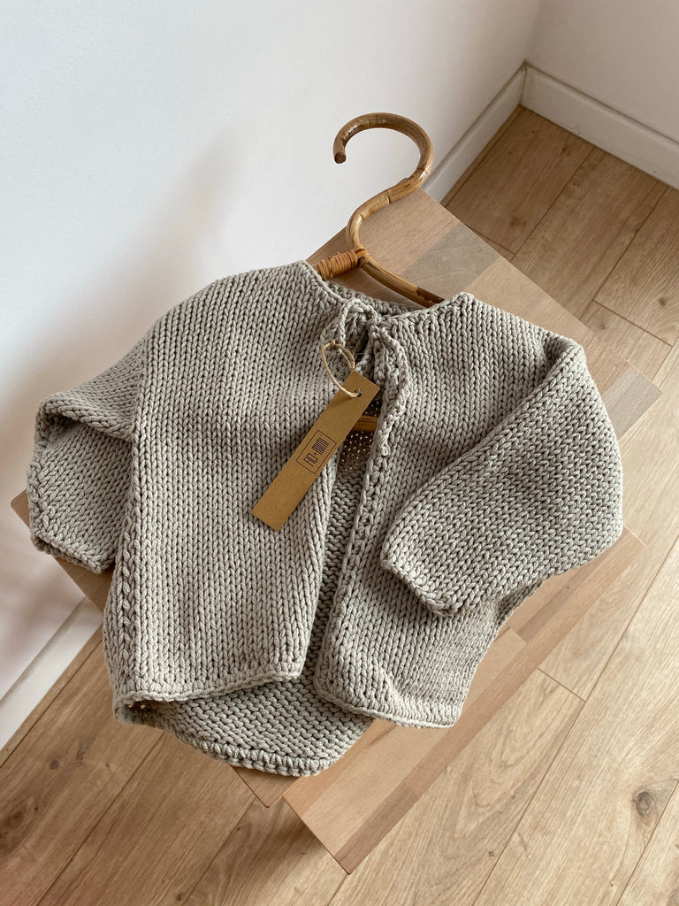 Handknitted cotton cardigan