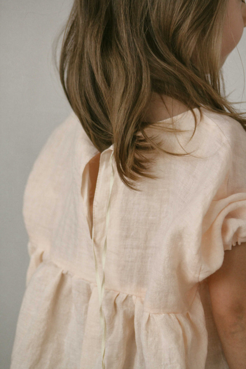 Dusty sand linen dress
