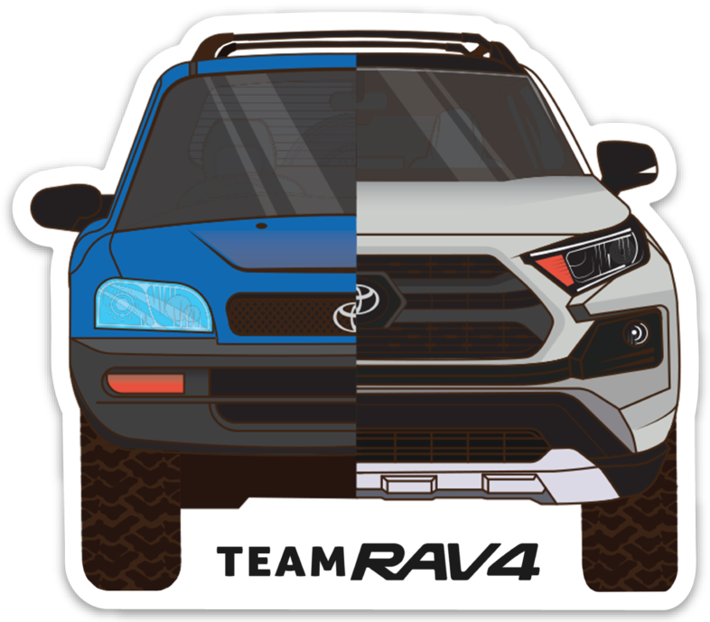 RAV4 Heritage Sticker - NEW