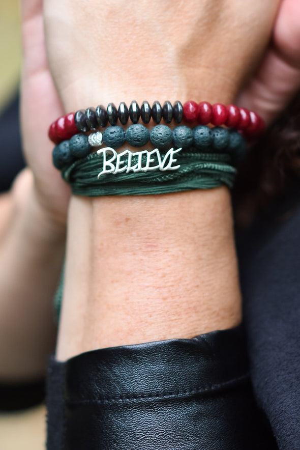 Believe Silk Wrap Bracelet