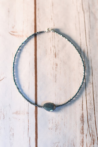 Blue Labradorite Pillow Choker