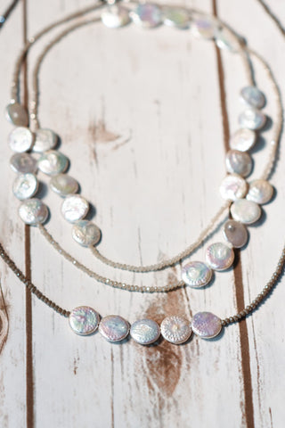 Flat Pearl Necklace