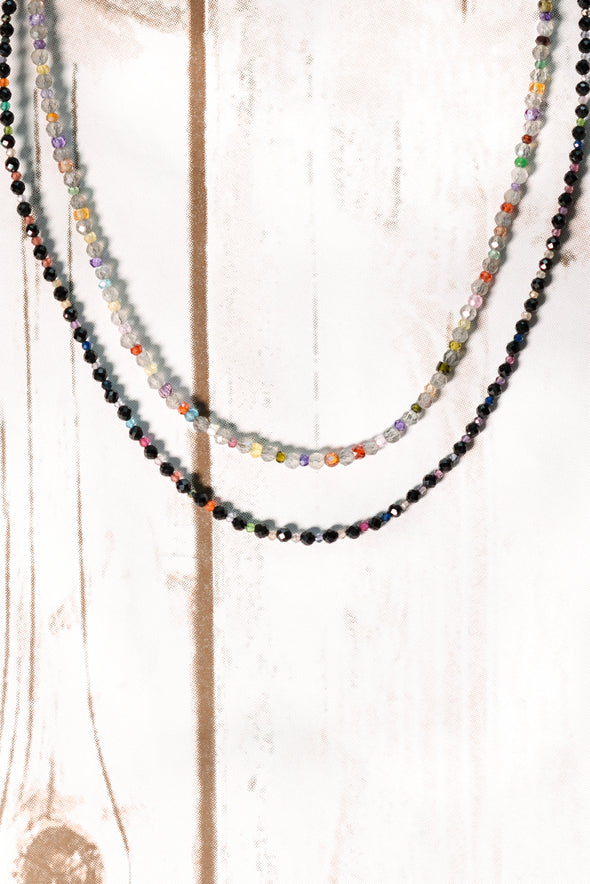 Black Spinel & Mixed Gemstone Choker