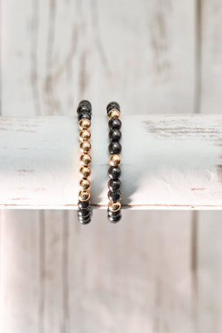 Hematite & 14K Gold Filled or Sterling Silver