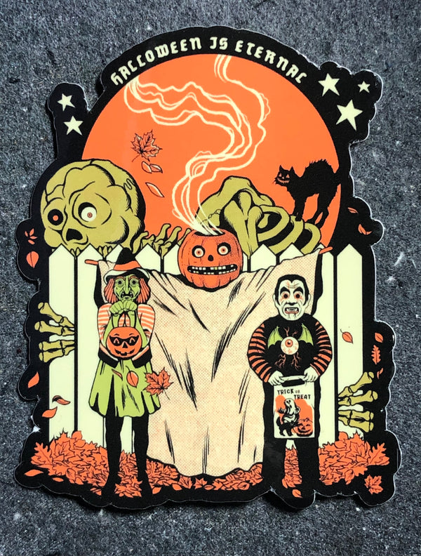 "Halloween is Eternal Kids 4"" Sticker"