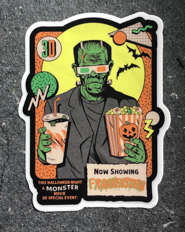 "Frankenstein 3D 4"" Sticker"
