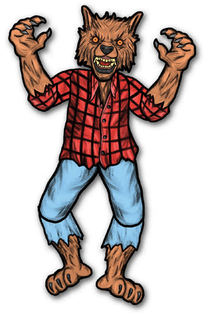 "31"" Werewolf Jointed Cutout"