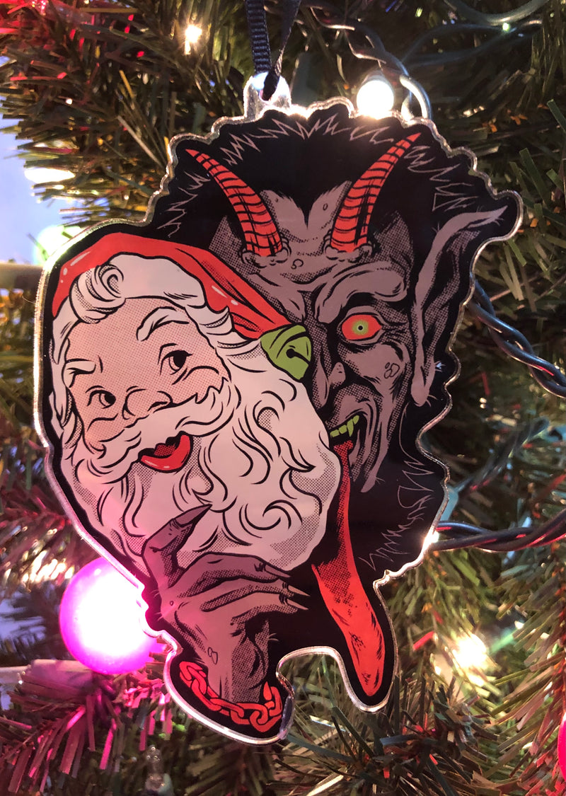 "5"" Krampus Claus Acrylic Ornament"