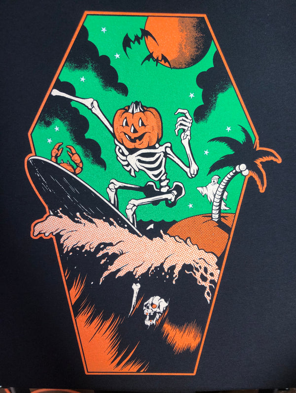 Pumpkin Surfer Tee - Black
