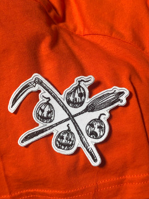 HSC Pumpkin Logo Crossbones Patch