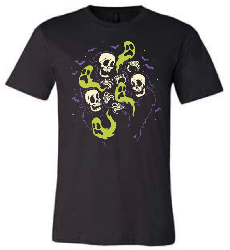 Skeleton Ghosts Tee