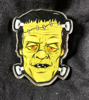 Frankenstein Head Acrylic Pin