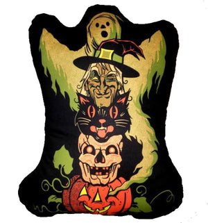 Halloween Character Totem Pillow