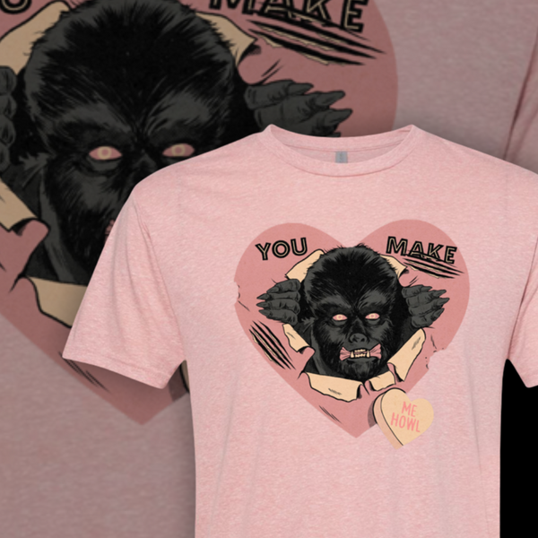 You Make Me Howl Tee - Pink