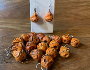 Set of Pumpkin Logo Earrings
