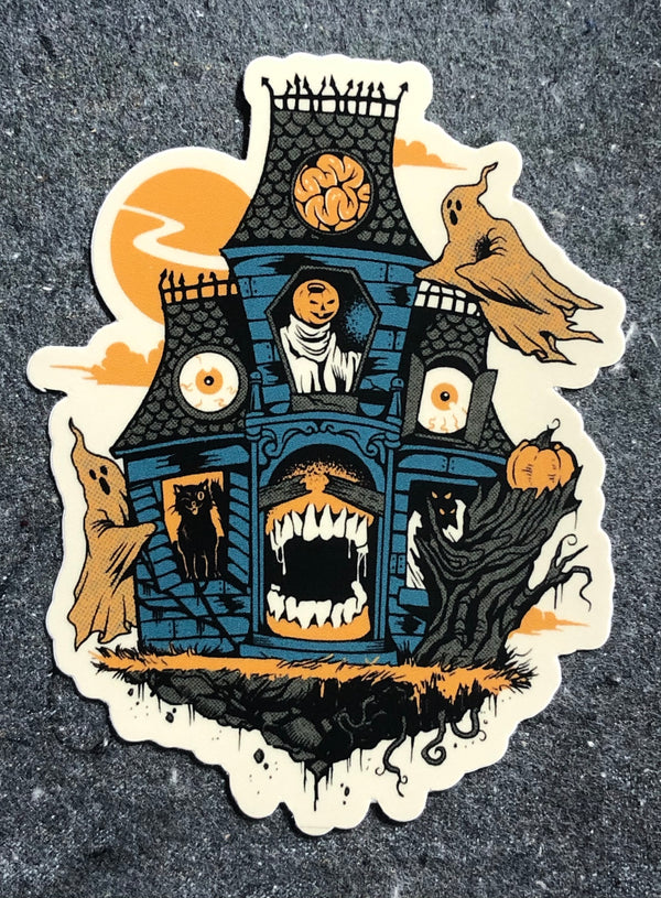"Haunted House 4"" Sticker"