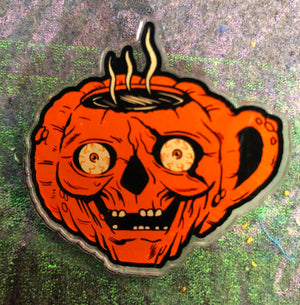 Coffee Pumpkin Cup Acrylic Pin