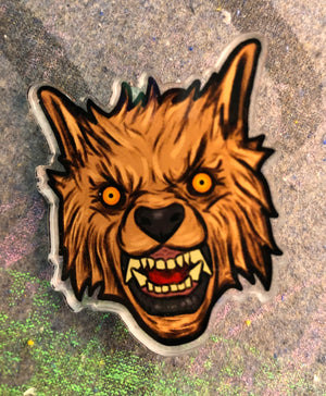 Wolf Head Acrylic Pin