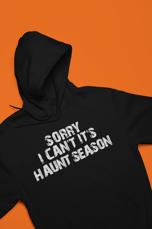 Sorry I Can't It's Haunt Season Hoodie