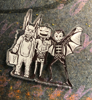 Halloween Shirt Co.Slender Kids Acrylic Pin