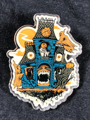 Haunted House Acrylic Pin