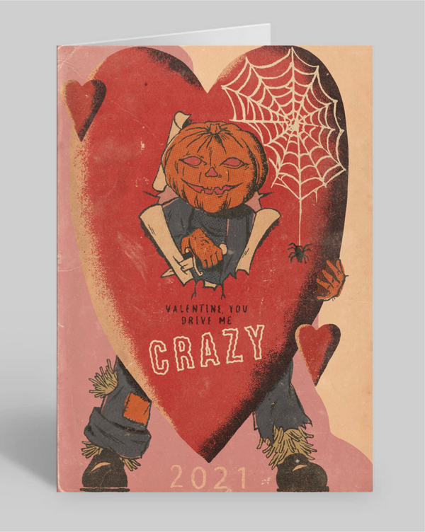 Pumpkin Slasher Valentine Greeting Card