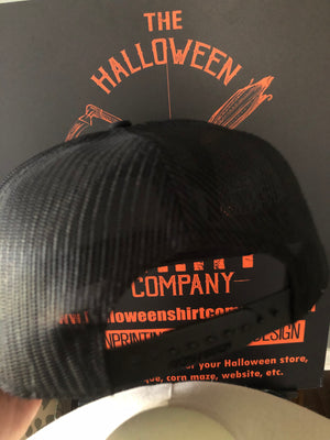 Leather Patch Pumpkin 7-Panel Hat BLACK