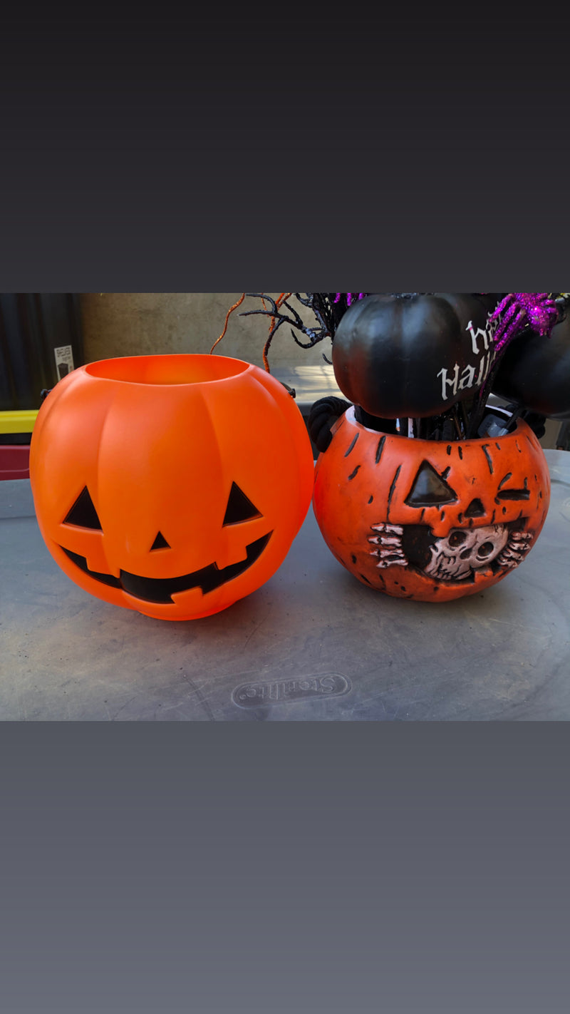 Skelly Pumpkin Pail Trick or Treat Bucket