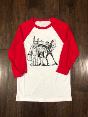 The Kids Baseball Tee - Red Sleeve- Adult