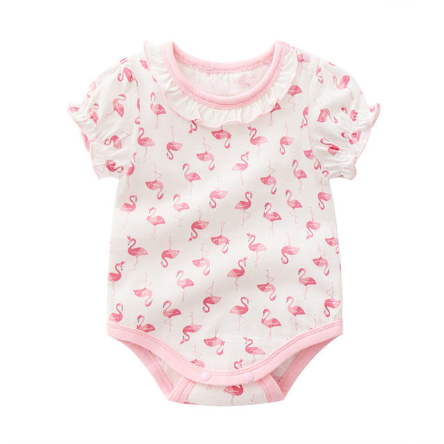 Flamingos Baby Girl Bodysuit