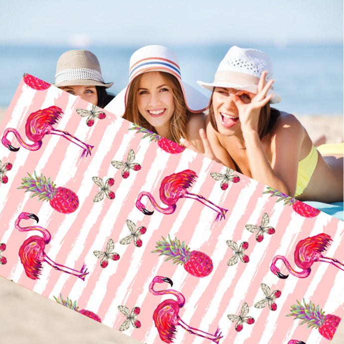 70*150cm Flamingo Beach Towel-flamingo freaks