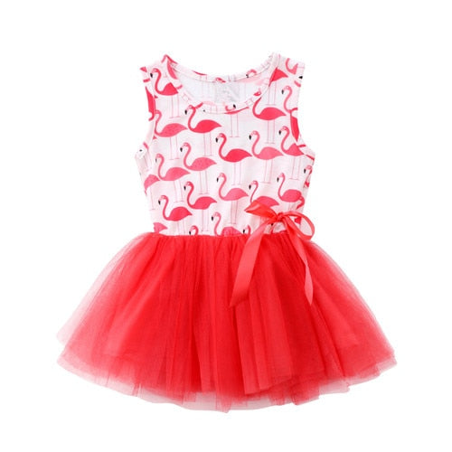 Baby Girls Flamingo Dress