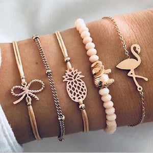Flamingo Pineapple Bracelets