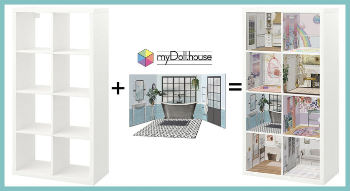 Ikea Kallax Hack :: A Fabulous Customizable + Updatable Dollhouse