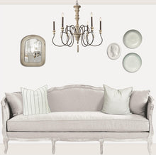 Load image into Gallery viewer, Faded and White: myDoll.house livingroom single wall photo of ikea hack diy dollhouse room insert