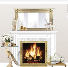 Load image into Gallery viewer, White Christmas room insert roaring fire