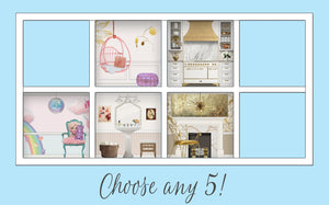 You Choose!: Five Dollhouse Room Inserts for $132!