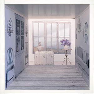 Faded and White: myDoll.house livingroom photo of ikea hack diy dollhouse room insert