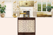 Load image into Gallery viewer, golden glamour full room flat Ikea insert layout