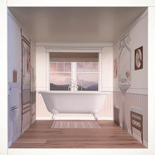 Load image into Gallery viewer, Pale Retreat: myDoll.house bathroom photo of ikea hack diy dollhouse room insert